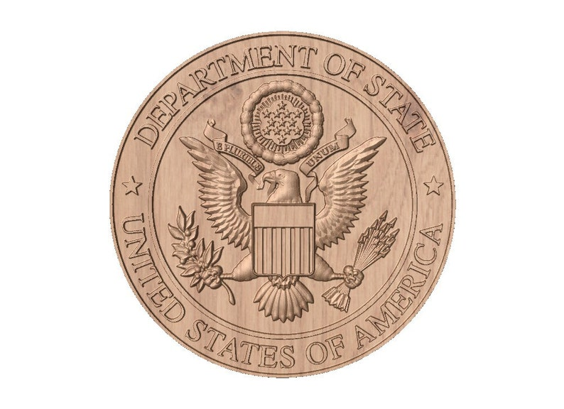 Department of State Seal  STL 3D Model File for CNC Router image 0