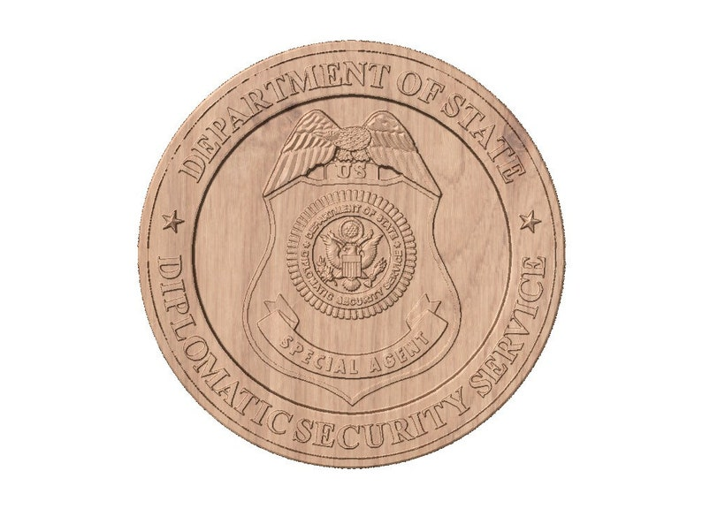 Diplomatic Security Service Seal  STL 3D Model File for CNC image 0
