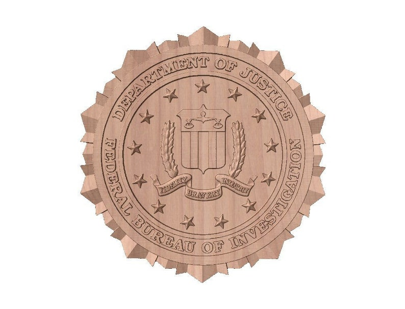 FBI Seal  STL 3D Model File for CNC Router image 0