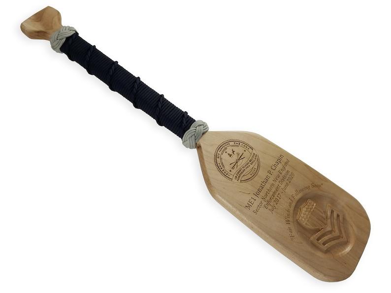 Coast Guard Award Wood Paddle With Rank Insignia Engraving image 0