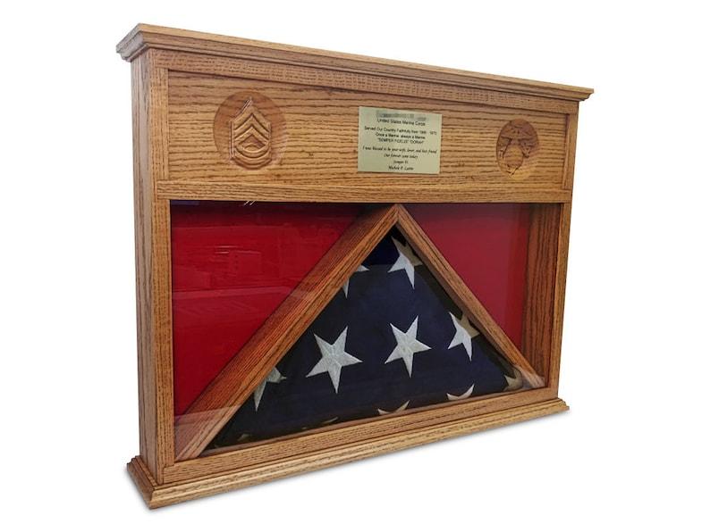 Burial Flag Desktop Shadow Box Display Case image 0