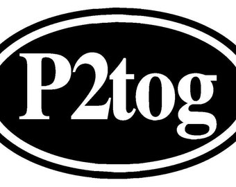 Knitters Decal P2tog  Purl Two Together