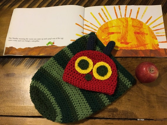 Crochet Hungry Caterpillar Hat Very Hungry Caterpillar Hat Etsy