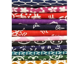 """Japanese Traditional Tenugui cloth 100 % cotton towel 13"""" wide and 35"""" long Ver.C"""