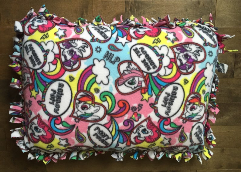 SALE  Small Fleece Pillow or Pet Bed  i heart mlp image 0