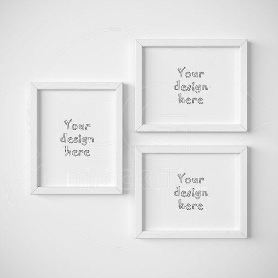 8x10 mockup White frame Frame mockup Set of three | Etsy