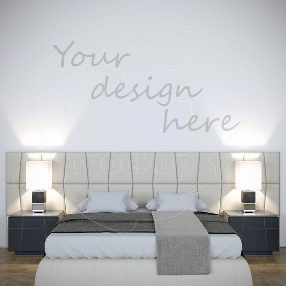 Wall Stencil Blank Wall Mockup Styled Stock Wall Decal Painting Mockups Wall Mural Bedroom Art Empty Background Digital Interior