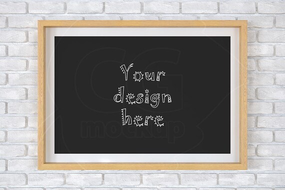 Frame Mockup 8x12 Brick Background Digital Product Etsy