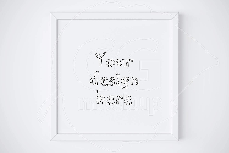 Simple white frame Square frame mockup Home decor Product   Etsy