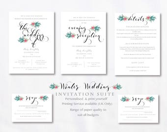 Winter Wedding Stationery Suite - SAMPLE ONLY