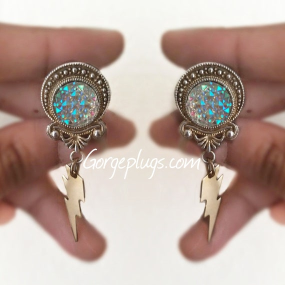 8mm-28mm PICK SIZE Boho Flower Plugs Gauges 0g-1 18 Sold by PAIR