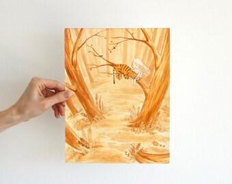 Girl and Tiger - original painting