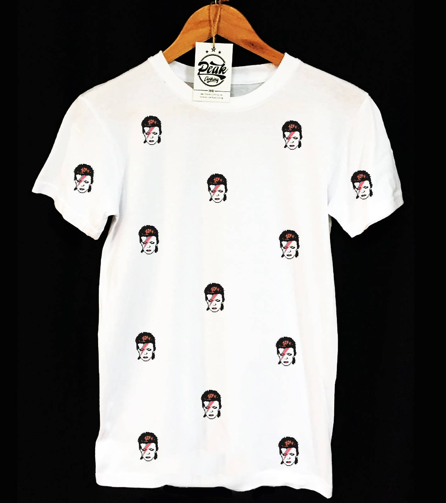 David Bowie Rebel Pattern T-shirt