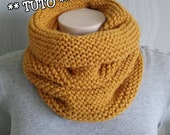Items Similar To Snood Tricot Point Mousse Tuto Diy
