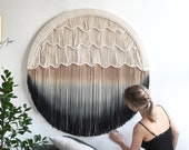 "Round Macrame Wall Hanging - Circle Tapestry - Available in different sizes - ""Seaside"""
