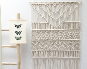 Large Macrame Wall Hanging - Macrame Curtains - Macrame Wall Art - Macrame Patterns - Wall Tapestry - Dip-dye Tapestry - Home Decor -