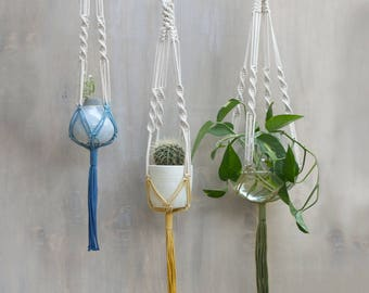 Macrame Plant Hanger - Knotted Plant Hanger - Hanging Planter - Macrame Plant Holder - Pot Hanger - Macrame Planter - Macrame Hanger - LILY
