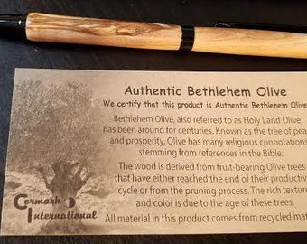 Handmade Bethlehem Olive wood pens from the Holy Land