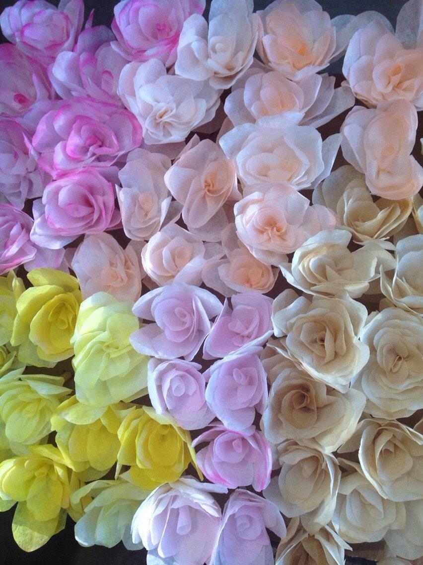Rose caf filtre fleur papier rose avec tige etsy - Rose avec tige ...