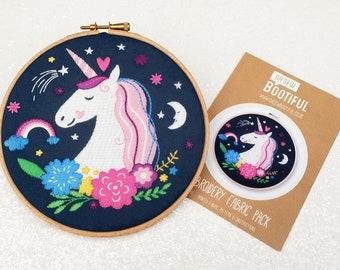Unicorn Embroidery Pattern, Unicorns Needle Craft Pattern, Fantasy Embroidery Pattern, Cute Needlework Pattern, Beginners Needlecraft