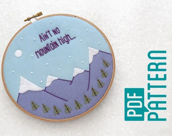 Wanderlust Embroidery Pattern, Modern Hand Embroidery, Beginner Hoop Art Tutorial PDF, Oh Sew Bootiful Embroidery, Travel Inspired Crafts
