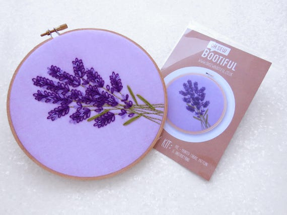 Lavender Embroidery Pattern Wildflower Embroidery Pattern