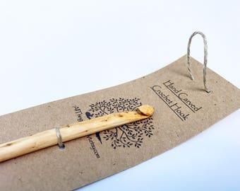 Hand Carved Crochet Hooks, Hand Made Wooden Crochet Hook