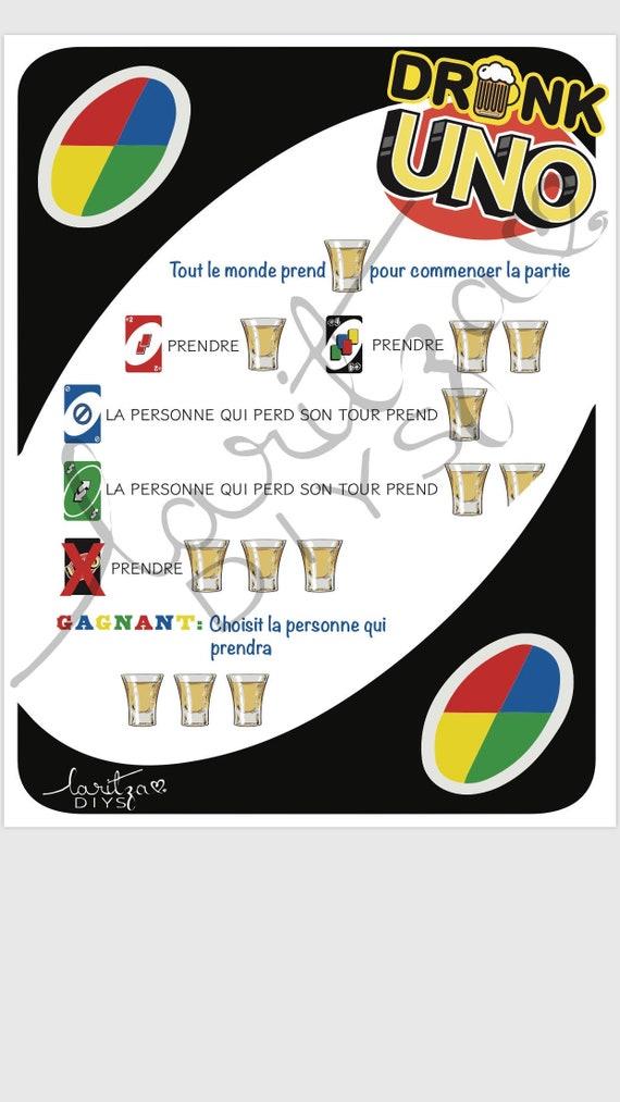 Drunk Uno French Jeu Uno Alcolise Jeu Uno Jeu Uno Etsy
