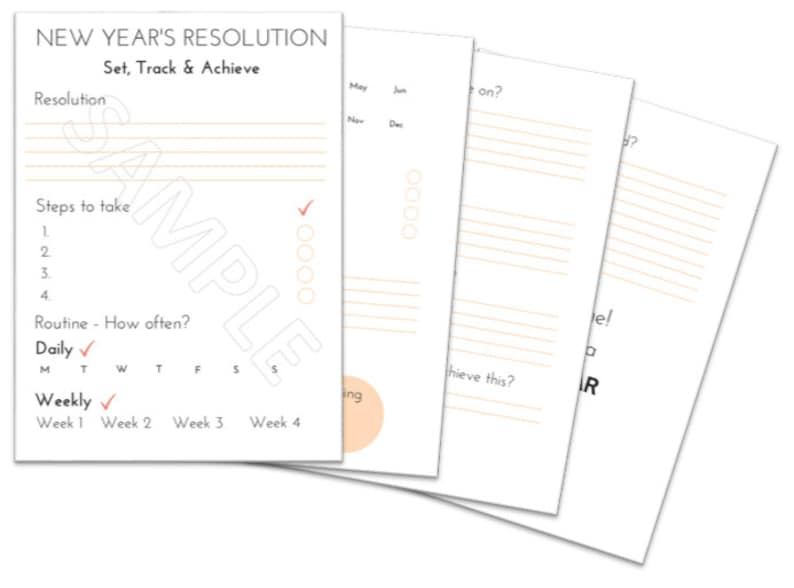 picture relating to New Year Resolution Printable titled Fresh Yrs Solution Direct, Resolutions printable, Ambitions printable, Contemporary Calendar year planner, solution tracker, resolutions targets
