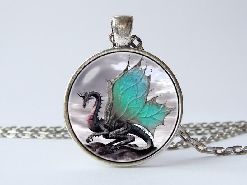 35086320668 Collier Bijoux Dragon pendentif de Dragon ailé dragon mode