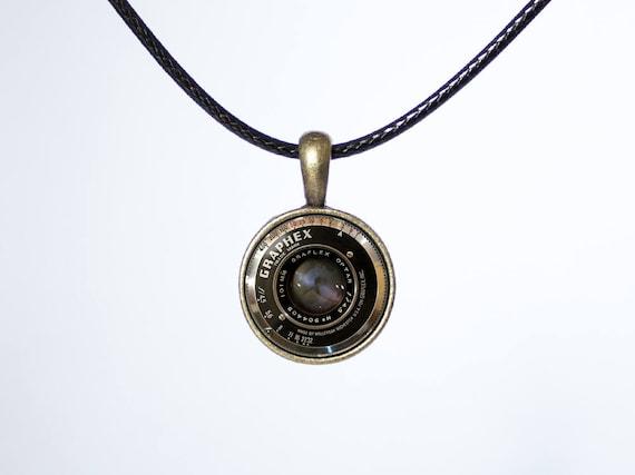 7254b5b9a9ac9 Camera choker Lens choker Leather necklace Photo jewelry Black cord choker  Photographer gift Camera jewelry Camera pendant Women choker