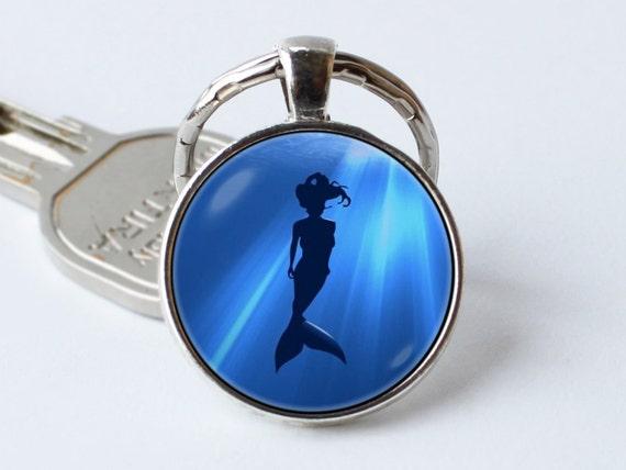 5 X Cola De Sirena encantos ~ ~ ~ tema de Ariel Colgante Llavero ~ ~ marcadores Joyas
