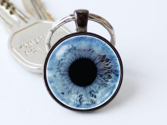Azul ojo llavero ojo llavero ojo humano llavero ojo colgante ojo llavero  globo ocular llavero ojo joyas regalos únicos regalos de llavero de globo
