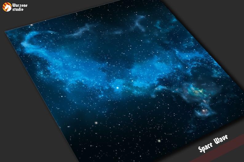 Games Other Miniatures & War Games Blue Nebula Vinyl Play Mat ideal
