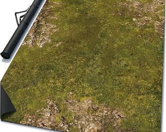 Battle mat: Homeland + Case - grassy field, terrain for fantasy miniature wargames - Warhammer, Hordes, Malifaux, Age Sigmar, Lord Rings