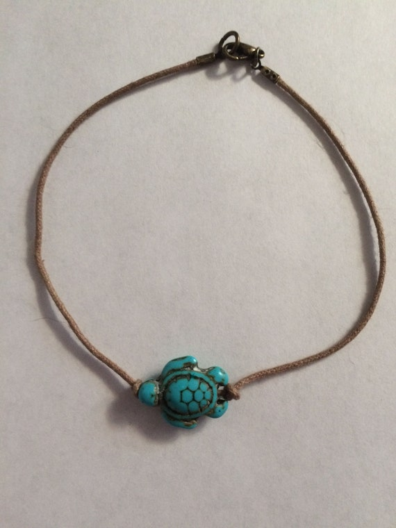 Turquoise Turtle Bead Anklet, Turquoise Anklet, Boho Anklet, Turquoise turtle anklet, Beach jewelry, Summer Anklet, Summer jewelry