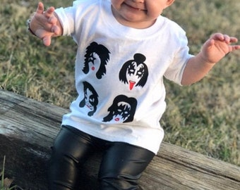 READY TO SHIP-Baby Toddler Kids Black Faux Leather Leggings