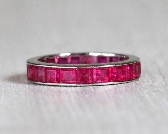 8103e10b1784 Vintage Cartier Ruby Wedding Band I Ruby Eternity Band