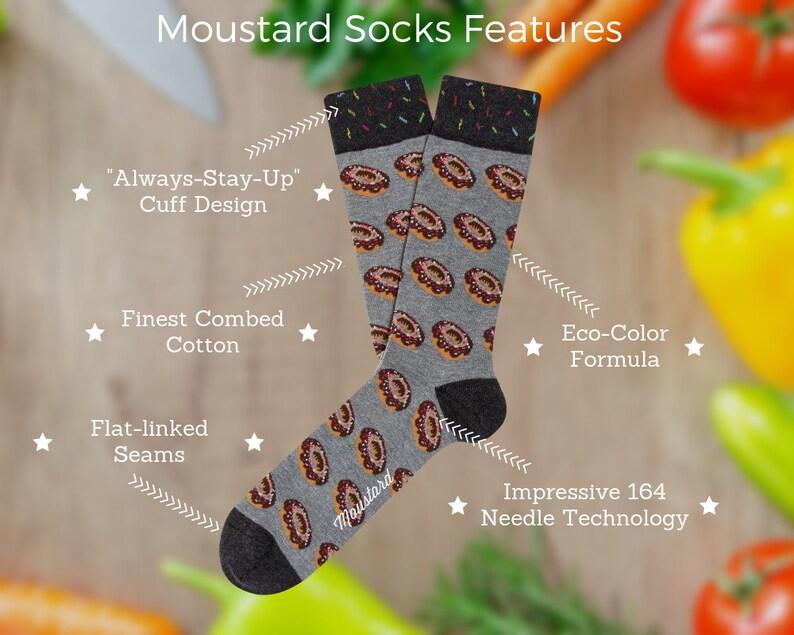women socks men socks Unisex socks Donut socks colour socks boyfriend gift gift socks gray socks food socks