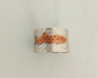 Men's Fish Ring / Sterling Silver