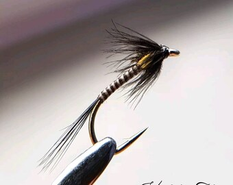 Set of 3 Lightweight Red Quill Buzzers size 14 Fly Fishing Flies  Bloodworm