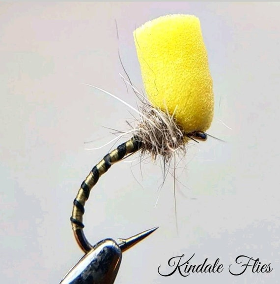 Fishing Flies Lightweight Chartreuse Pheasant Tail Buzzers size 12 Set of 3