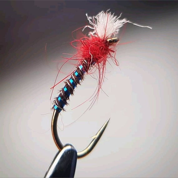 Cruncher Nymph Fishing Fly 12 Pack Orange Cruncher Mixed Size 10//12//14//16
