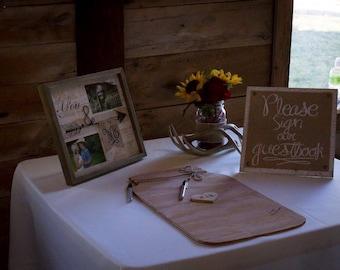 Mason Jar Wedding Guestbook