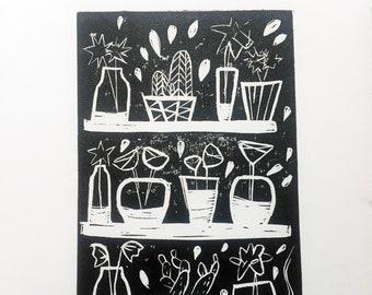 Original Lino Prints A5