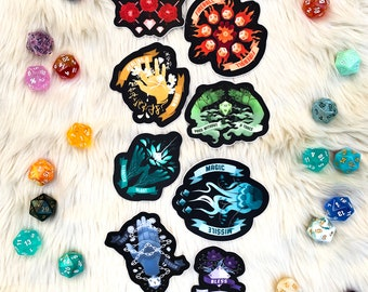Spell Stickers, Dungeons and Dragons DND