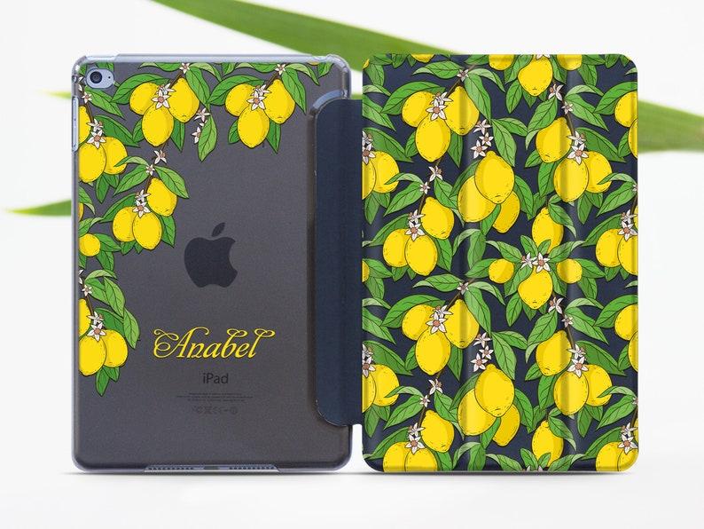 info for 37537 76695 Custom iPad 11 iPad Air 3 2019 Lemons iPad Mini 5 iPad Pro 10.5 iPad 12.9  Smart Cover Tablet Stand iPad 6 Clear Case Fruits Case 696D4511