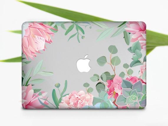 Pink Flower Case Floral Case Hard Cover MacBook Air 11 13 Case MacBook Pro  13 15 Case MacBook Pro Retina 13 15 Case 696D2011
