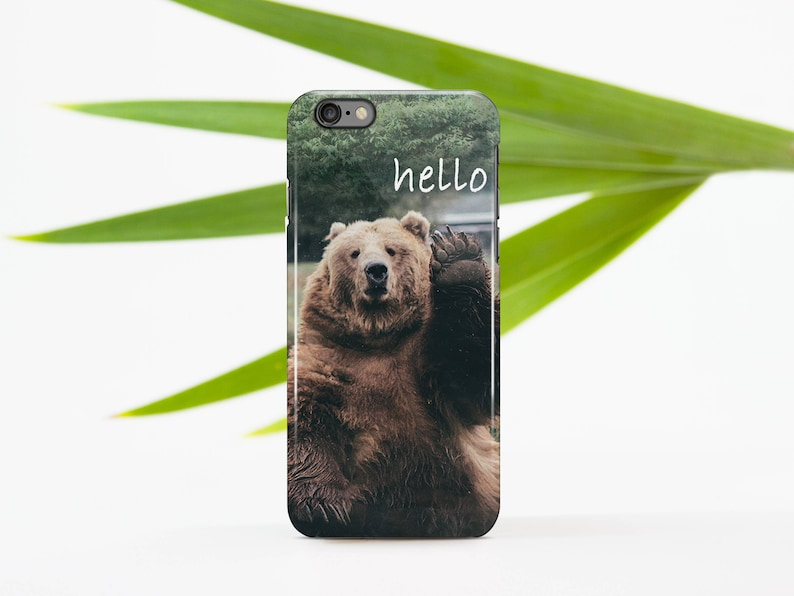 new style 422a3 cfb60 Bear iPhone 6S Case iPhone X Case Full Wrap Case Hard Plastic Case For  Samsung S7 Monogram Case For Samsung S6 Edge Plus iPhone 8 696D1617