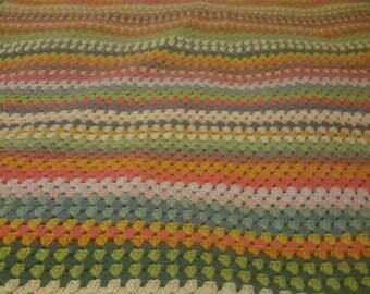Granny Stripes Shawl Etsy